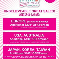 [ASA Holidays] Hey guys how's your Sunday going?Do drop by ASA Holidays at NATAS Travel Fair today!We are located