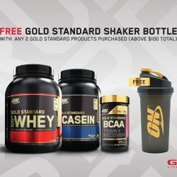 [GNC Live Well Singapore] Enjoy a FREE ON Shaker bottle when you purchase any 2 ON Gold Standard products* from now till 28 Feb