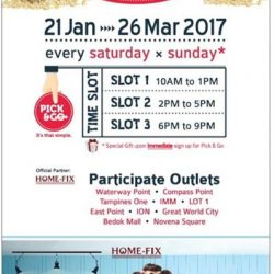 [Home-Fix Singapore] Shopping from the comfort of your home just got better! Enter your Pick & Go code to unlock your exclusive deal.