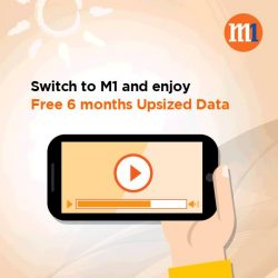 [M1] Start the new year right with bigger data bundles!Simply switch to M1 and enjoy free 6 months Upsized Data