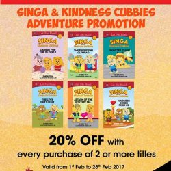 [MPH] Singa & Kindness Adventure Promotion20% off with purchase of 2 or more titles Promotion valid from 1 - 28 February 2017#