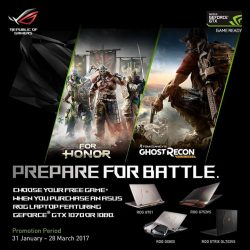 [ASUS] Prepare for battle! From now till 28 March, receive a FREE copy of FOR HONOR OR GHOST RECON: WILDLANDS when