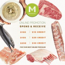 [Mmmm!] Let not the erratic weather ruin your meat shopping! Check out the exclusive online deals on Mmmm.com.sg.* Promotion