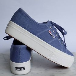 [Superga] Superga Flatform in Blue VelvetFree 1-4 Days Delivery → http://bit.ly/2kSXsDW
