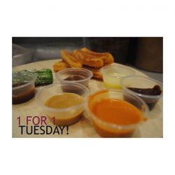 [CHULOP!] 1-for-1 Tuesday! Hurry Down!! Anything from the menu! Terms & Conditions Apply 1) Complimentary item must be equal or