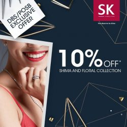 [SK Jewellery] Give a wonderful surprise to the one you love this weekend! Enjoy 10% off Shima and Floral collection from SK
