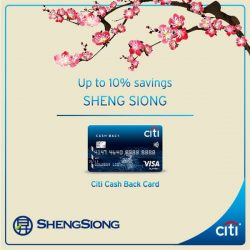 [Citibank ATM] Your festive goodies and groceries, lighter with the Citi Cash Back Card. Enjoy savings of up to 10% when you