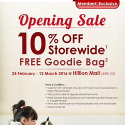 [Pet Lovers Centre Singapore] Hey pet lovers! We're opening a new store at Hillion Mall! Receive 10% OFF storewide and a FREE Goodie