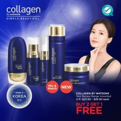 [Watsons Singapore] Turn back time and reverse the signs of ageing with Collagen by Watsons' Skin Renew. The pinnacle of Korean beauty,