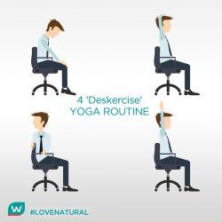 [Watsons Singapore] Sore back? Stiff neck? Here're 4 office Yoga poses that won't freak out your coworkers. Repeat each pose