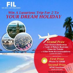 [FIL Skin & Body Intelligence] Stand a chance to win an extravagant trip for two to your dream destination, worth $10,000*! We are also