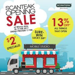 [Scanteak] Did you know? We are popping up in the heart of town - Wisma Atria! Come celebrate our 13th store opening