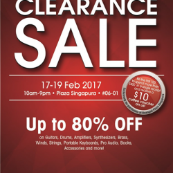 [YAMAHA MUSIC SQUARE] It's day 2 of our Clearance Sale! Hurry down to Plaza Singapura stores today before it's too late.