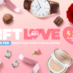 Lazada: Valentine's Day Mega Sale with Up to 80% OFF + Additional Up to 15% OFF!