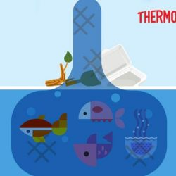 [Thermos] Did you know that the styrofoam boxes we use are often dumped into the environment,  causing undesirable effects on wild