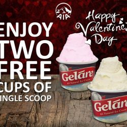 [Gelare Café] Hurry up to redeem your Valentine's Day special treat from Geláre from today till 15 Feb 2017 (Wednesday)!
