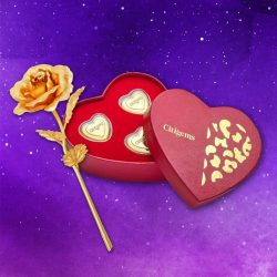 [CITIGEMS] Roses and chocolates – the perfect romance combination! Delight and impress your loved ones with a 999 Pure Gold Plated Rose