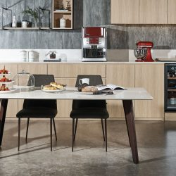 [Cellini] Fall in love with Quartz! Check out the high performance dining table made from natural Quartz stone. It's more