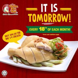 [The Chicken Rice Shop] One more day till our favourite day, Chicken Rice Day! Mark your calendar and tag a friend who you'd