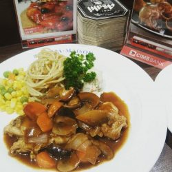 [Ma Maison Restaurant Singapore] Today's Daily Lunch at Ma Maison at Bugis Junction isChicken Stew with Mushroom Brown SauceComes with soup,