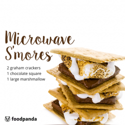 [foodpanda] If you're staying up late and craving for a quick late-night snack, how about some microwave s'mores?