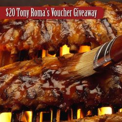[Tony Roma's] Enjoy $20 off your meal from 22 Feb to 23 March at Tony Roma's Suntec City.  Please download $20