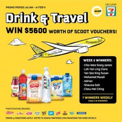 [7-Eleven Singapore] Congratulations to our Week 2 winners for winning $200 worth of Scoot vouchers each!We still have 14 more vouchers