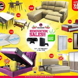[FULL HOUSE HOME FURNISHINGS] This WEEKEND!! 11th & 12th Feb 2017 ONLY!! 😱 OUR RENOVATION SALES!! 😱 11am to 9pm!! 2 Days Only!!💰Instant Lucky Draw For