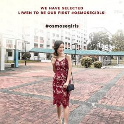 [OSMOSE Singapore] We have selected Liwen to be our first #osmosegirls! To be eligible to join our community, you need to :1.