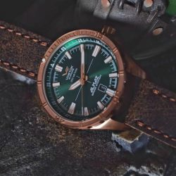 [Krasnaya - The Watch Art Gallery by Red Army Watches] Paying tribute to the Almaz Space Station built in the early 1960s.Vostok Europe Almaz in a bronze case that