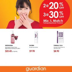 [Guardian] Offers so good, you'll want to keep them secret.Mix & Match and get them now at selected Guardian outlets