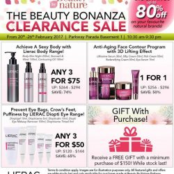 [Beauty By Nature] Your Favourite Lierac Products on Sale at The Beauty Bonanza Clearance Sale happening on the 20th to 26th February 2017