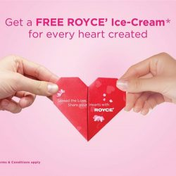[Royce'] Make your Valentine's day extra special with the luscious decadence Royce' Ice-Cream.Simple present your ROYCE' heart-shaped