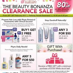 [Beauty By Nature] Your Favourite Phyto Products on Sale at The Beauty Bonanza Clearance Sale happening on the 20th to 26th February 2017