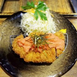 [TONKATSU BY MA MAISON] Today's Daily Lunch Set atTonkatsu Bistro Ma Maison at Westgate isMentaiko Oroshi (grated daikon radish with spicy