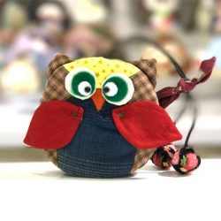 [Bloom Selection] Owl Key Pouch Cover Holder USB Thumb drive Bank Tokens Bag Charm Japanese Fabric - S$12One of a Kind,