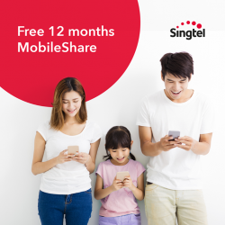 [Singtel] Enjoy FREE 12 months MobileShare subscription (worth $240) and 50% off for the next 12 months when you sign up