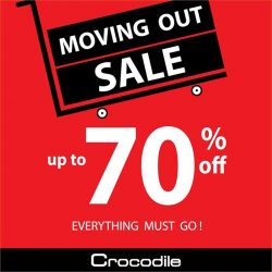 [Crocodile] Enjoy up to 70% off at Crocodile The Verge outlet Moving Out Sale! Everything must go! Happening from now till
