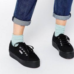 [Superga] Superga Flatform in BlackFree 1-4 Days Delivery → http://bit.ly/2inYA3L