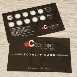 [COOL MAN] Coolman drink fresh very own Loyalty Card! Enjoy great offers and deals with every purchase of fruit juice at Coolman -