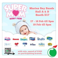 [Cold Storage] Attention all super-mommies & daddies! Enjoy exclusive deals this coming weekend when you head down to our baby fair held