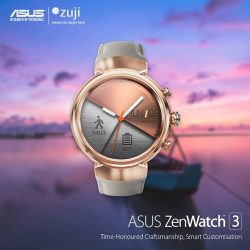 [ASUS] From now till 28 February, receive a $100 ZUJI Travel Voucher when you purchase a pair of ZenWatch 3 at