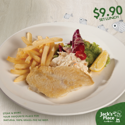 [Jack's Place] Make weekdays your set lunch days. Two weeks left to catch the day's Grilled Fillet of Fish Set Lunch