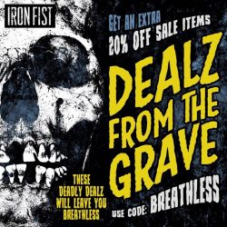 [Iron Fist Clothing] Dealz From The Grave Extra 20% OFF Sale Items w/code: BREATHLESS ☠Shop Link In Bio☠ #IronFistClothing #Shopaholic #Breathless #Sale