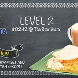 [The Star Vista] Purchase any Biryani set at Ah Mei Prata (02-12) and receive a FREE drink of your choice! This special