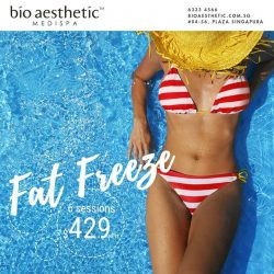 [Bio Aesthetic] Target and destroy fat cells - with our Fat Freeze - non-invasive Cryolipolysis Treatment. Sculpt your waist, back and thighs. Call