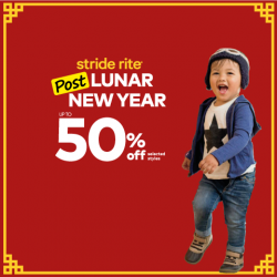"[Stride Rite/Petit Bateau] Stride Rite ""BUY-ONE-GET-ONE 50% OFF"" POST LUNAR NEW YEAR SALE on shoes, socks & accessories! Or take 30%"