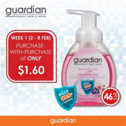 [Guardian] Stretch your dollar and save more when you buy more! Get the GUARDIAN ProtectCare Antibacterial Foam Handwash (Valerian & Rose) at