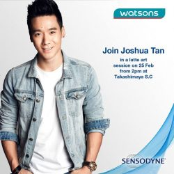 "[Watsons Singapore] Sensodyne is inviting you to ""Come Senso-Dine with me"" & get a free sensitivity chill test at Watsons Takashimaya S."