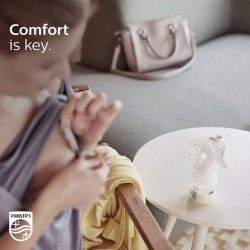 [Philips] When you are more comfortable and relaxed, your milk flows more easily.The Philips Avent Comfort Manual breast pump has
